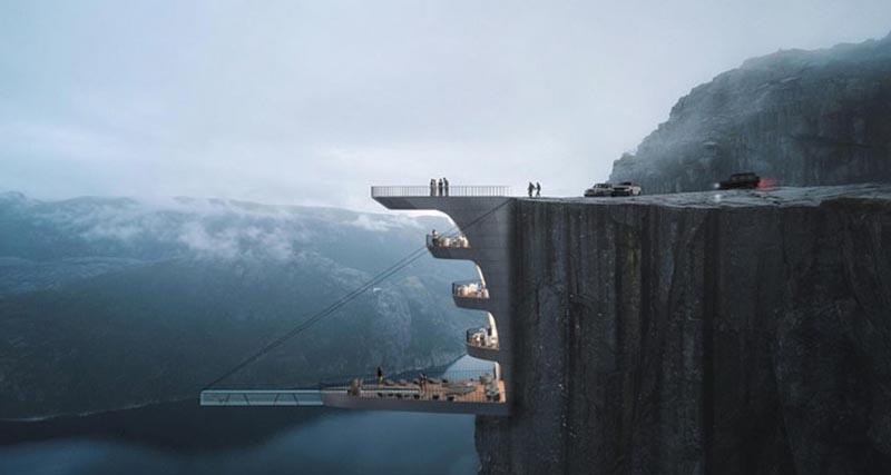 Σχέδιο που κόβει την ανάσα – Αρχιτέκτονας ετοιμάζει πισίνα στο χείλος του γκρεμού στη Νορβηγία