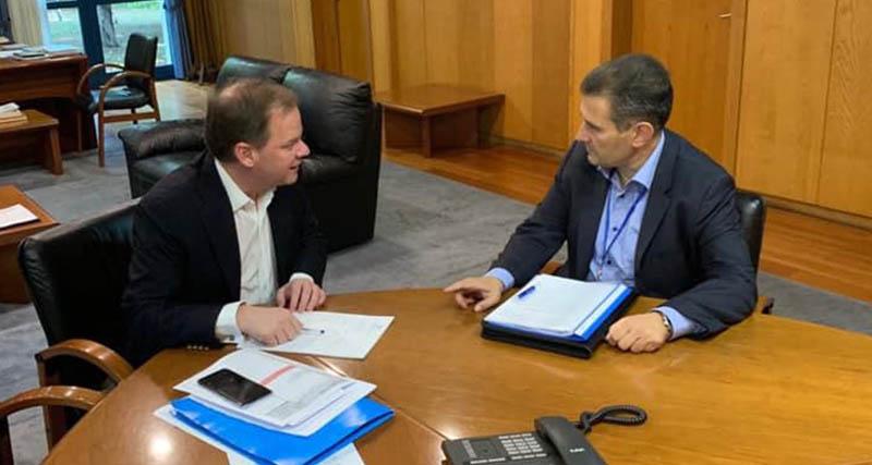 Συνάντηση Κάρναβου με τον Υπ. Μεταφορών Κ.Καραμανλή – Συζήτηση της αναγκαιότητας για Μετρό στην Καλλιθέα