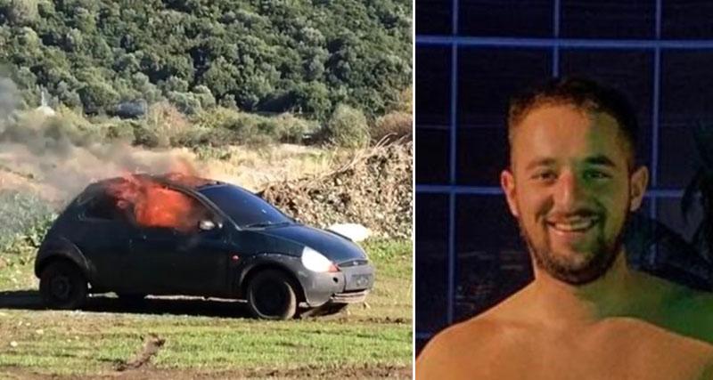 Έβαλε φωτιά στο αμάξι που είχε πάρει μαζί με τον φίλο του για να τον αποχαιρετήσει (vid)